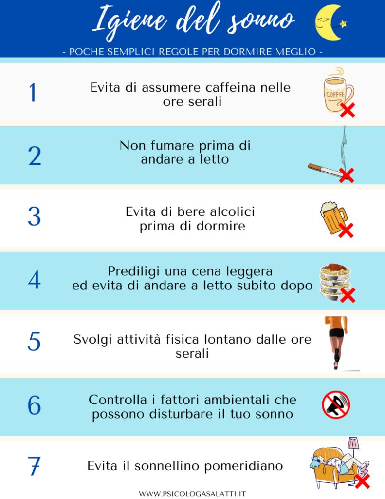 Igiene del sonno: le regole per migliorarla